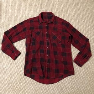 💜 3/25$ Red & Black Flannel Button-Down Top